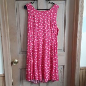 Torrid pink floral skater dress. New with tags
